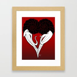 Ammonite Amore Framed Art Print