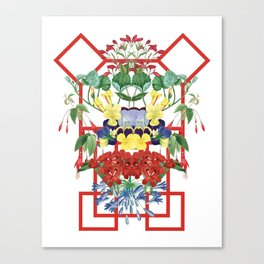 Floral Geometry I Canvas Print