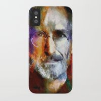 steve jobs iPhone & iPod Cases featuring Steve Jobs by Richard Michaud
