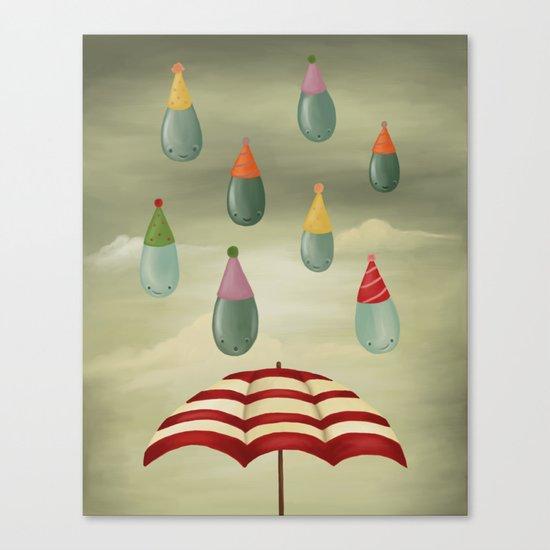 Rain Party Canvas Print