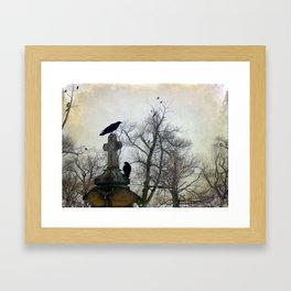 A Gathring Of Crows Framed Art Print