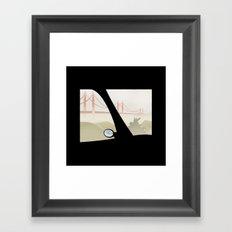 WINDOWS 006: THE BRIDGE Framed Art Print