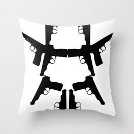 Pistol Robot Throw Pillow