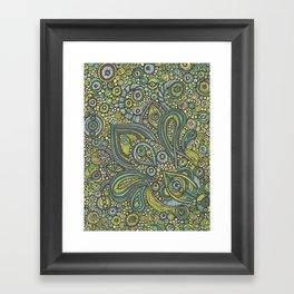 Blue Safari Framed Art Print