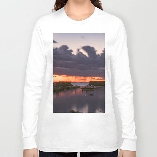 Rainy Lanescove Sunset Long Sleeve T-shirt