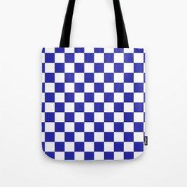 Checkered (Navy & White Pattern) Tote Bag