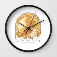 buffy Wall Clocks featuring Buffy Summers  by Morgane Grosdidier de Matons