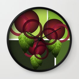 Raspberry with Basil II Wall Clock