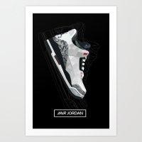 air jordan Art Prints featuring Air Jordan by Kamil Sypień