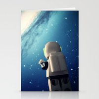 neil gaiman Stationery Cards featuring Neil in the galaxy by Salvatore Rotolo