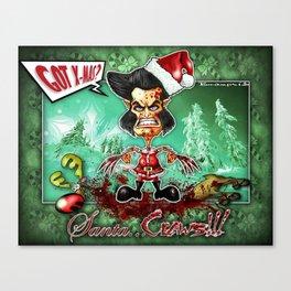 Santa...Claws! Canvas Print