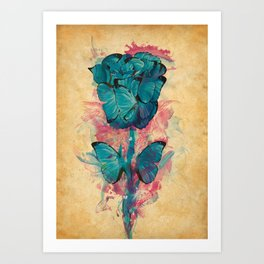 Butterfly Rose Art Print