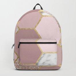 Sensations of the mind rose gold Backpack