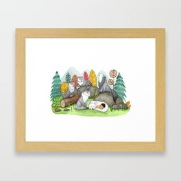 Raised by Wolves Framed Art Print
