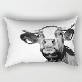 Cow photo | Black and white Rectangular Pillow