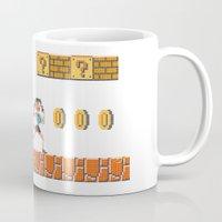 lara croft Mugs featuring Lara Bros by Marina Portela