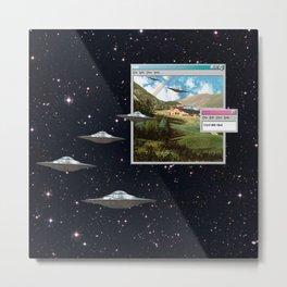 Ctrl+Alt+Del // Returning UFOs Metal Print