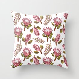 King Protea Delight Throw Pillow