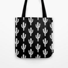 Cactus minimal linocut pattern southwest printmaking art summer Tote Bag