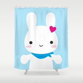 Super Cute Kawaii Bunny Shower Curtain