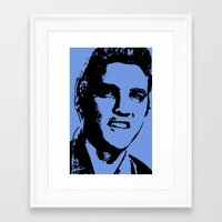 elvis presley Framed Art Prints featuring Elvis Presley by Bill Murray