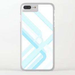 Blue Corners Clear iPhone Case