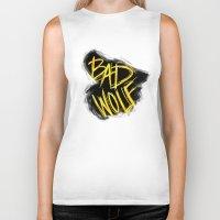 bad wolf Biker Tanks featuring BAD WOLF by Amanda Steuck