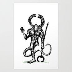 Your friend the Titanite Demon - Dark Souls Art Print