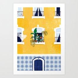 Lisbon girl Art Print