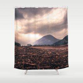 Wastelands Shower Curtain