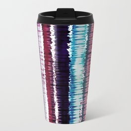 Bohemian Style Tie dye Stripes Design Metal Travel Mug