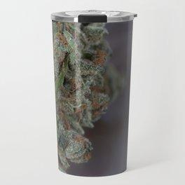 Close up macro of Dr. Who Medicinal Medical Marijuana Travel Mug