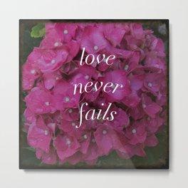 hydrangea - love never fails Metal Print