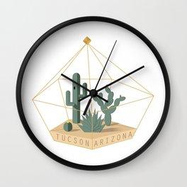 Tucson Arizona Cactus Terrarium Wall Clock