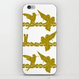 Gold Hummingbirds on Line Chatting iPhone Skin