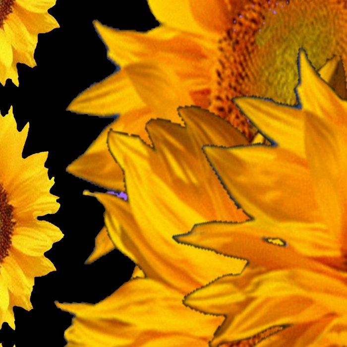Classic Black & Golden Sunflowers Pattern Art Leggings