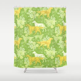 SETTERS ON THE MEADOW Shower Curtain