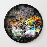 leopard Wall Clocks featuring LEOPARD by sametsevincer