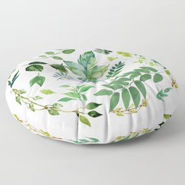 Circle of Leaves Floor Pillow