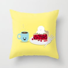 Coffee and Pie Throw Pillow