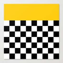 Marigold & Checkers Canvas Print