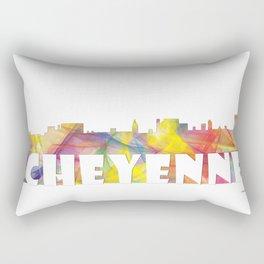Cheyenne Wyoming Skyline MCLR 2 Rectangular Pillow