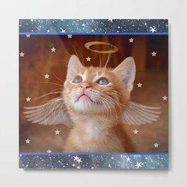 Angel Kitten Metal Print