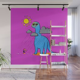 Brachiosaurus - How's the Weather Up There? Wall Mural