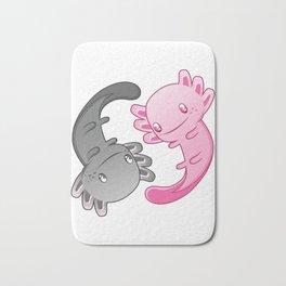 Axolotl Yin Yang Funny Gift for Aquarium Fans design Bath Mat