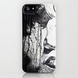 Splattered Portrait iPhone Case