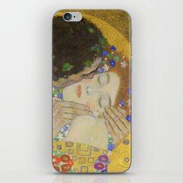 The Kiss - Closeup - Gustav Klimt iPhone Skin