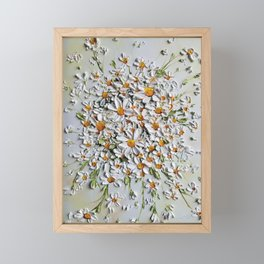 Daisy Explosion, Daisies layered on top of each other in 3d effect Framed Mini Art Print