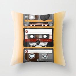The cassette tape Throw Pillow