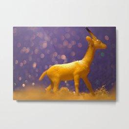 Blue Gazelle Metal Print